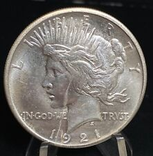 1921 High Relief Peace One Dollar Silver  $S1 Coin - KEY DATE - ii