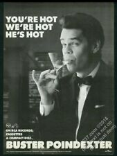 1987 Buster Poindexter photo Hot single release vintage print ad
