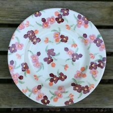 "EMMA BRIDGEWATER Tiny Pink Wallflower .  8-1/2"" PLATE . Spongeware Spring"