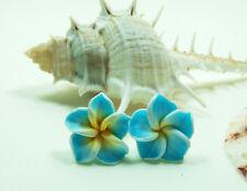 New Hawaiian Plumeria Handcrafted Flower Fashion Fimo Polymer Clay Stud Earring