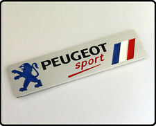Peugeot Sport Brushed Aluminium Car Badge Emblem metal 206 Rally Motorsport (64)