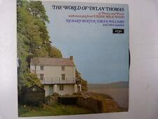 LP The World of DYLAN THOMAS Richard Burton argo