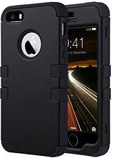 Iphone 5S Case, Ulak iPhone se case 3in1 impacto híbrido suave silicona a prueba de golpes