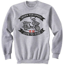 HONDA BEAT FC 50 - NEW COTTON GREY SWEATSHIRT ALL SIZES IN STOCK