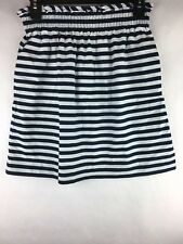 J Crew Women's Size 2 Skirt City Mini Ripstop Cotton Navy White Striped