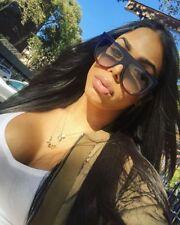 """SHADOW"" Women Sunglasses Teardrop Aviator Flat Top BLACK Ombre Shadz"