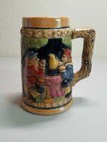 Vintage Giftcraft Japan Mug Cup - 3D Men Drinking Beers