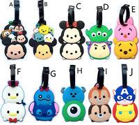 cute tsum tsum mickey minnie pooh luggage tag baggage tips silica gel cute gif
