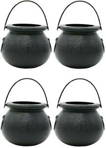 Mini Cauldron Buckets (12 Pack) - Halloween Party Dozen Witch Candy Cups