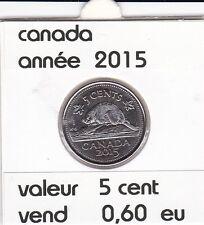 canada 5 cent  2015 voir description