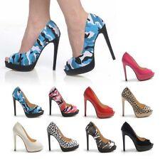 Stiletto Peep Toes Multi-Coloured Heels for Women
