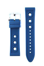 20MM BLUE RUBBER DIVER WATCHBAND STRAP FOR BREITLING SUPEROCEAN PORTHOLE
