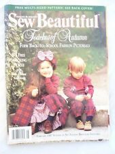 Martha Pullen's Sew Beautiful Magazine Back Issue Fall 1996 Patterns Included