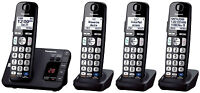 Panasonic KX-TGE234B DECT 6.0 Plus Talking Cordless Phone System w/ Big Buttons