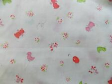WtW Estate Fabric Vintage Cat Duck Butterfly Floral BTY Animal Kid Child + Quilt