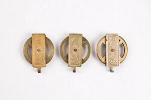 Matching set of 3 Vienna regulator clock weight pulleys @ 1890 Gustav Becker