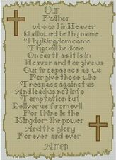 "Lords Prayer Religion Cross Counted Cross Stitch Kit 8"" x 11"" 20cm x 28cm R2371"