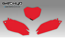 KIT ADESIVI GRAFICHE TABELLE RED HONDA CRF 250 2010 2011 2012 2013 PLATES
