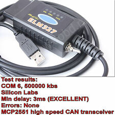 ELM327 USB modified for Ford ELMconfig HS-CAN / MS-CAN Forscan OBD2 ELMconfig