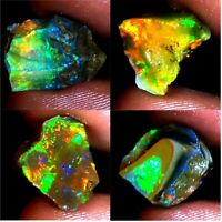 RARE SIZE 100%Natural Ethiopian Opal Play Of Color Rough Cabochon AC221 Ethiopia