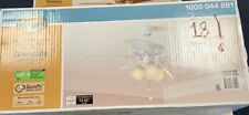 Hampton Bay Glendale Ceiling Fan 42 in LED Indoor White Light Kit Pull Chain