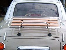 Mazda MX5 MK 1/2/ Nissan Figaro Classic Luggage Boot rack Stainless Steel & Wood