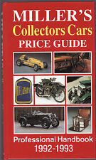MILLER'S PRICE GUIDE : COLLECTORS CARS  1992 - 1993  car valuation guide  ad