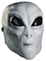 HALLOWEEN ADULT ALIEN ROSWELL AREA 51 UFO  GREY MASK PROP