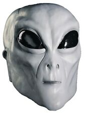 HALLOWEEN ADULT ALIEN ROSWELL AREA 51 UFO  GREY MASK PROP