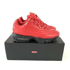 Boxed Supreme Air Max 95 Lux Red Trainers Shoes,  Size UK 9.5