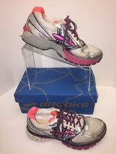 Brooks Adrenaline GTS 14 Womens Sz 10 Sneakers White /Pink Running Shoes A7
