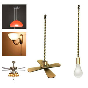Ceiling Fan Pull Chain Set 12 In Alloy Ceiling Light Lamp Pull Chain Red Bronze