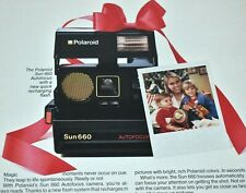 1984 Vintage Print Ad Polaroid Sun 660 Auto Focus Camera Recharging Flash Photos
