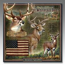 "American Expedition Wildlife Series 3-D Whitetail Deer Embossed Tin 14"" x 14"""