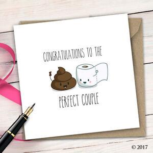 Wedding Card • Adult Humour • Funny • Quirky • Rude Honeymoon Congratulation D58