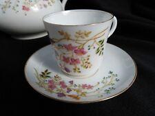 service à café ancien en porcelaine de Paris fin XIX - 1900  papillons