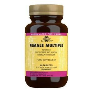 Solgar Female Multivitamin Multiple Tablets 60 vitamins minerals 27 nutrients