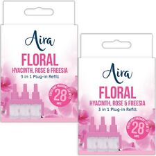 FLORAL TWIN PACK Plug In Air Freshener Refills Electric Ambi Pur 3volution 3in1