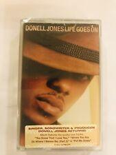 DONELL JONES Life Goes On 2002 CASSETTE TAPE Sealed BRAND NEW Arista