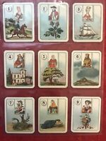 1926 CARRERAS-FORTUNE TELLING-FULL 36 CARD SET-TAROT-LARGE CIGARETTE CARDS-NRMNT