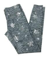 Terez Stars Foil-Printed Balayage Leggings Women's Size Large Silver Gray