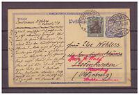 Deutsches Reich, Ganzsache P 146 + ZuF Osterode nach Oldenburg 09.08.1922