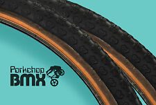 "Kenda Comp 3 III old school BMX skinwall gumwall tires 24"" X 1.75"" BLACK (PAIR)"
