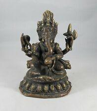 Statuette elephant ganesh en bronze
