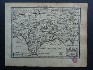 1630 Jansson / Mercator Atlas map  ANDALUSIA - GIBRALTAR - GRANADA - SPAIN