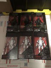 Star Wars Black Series 6 Inch Lot  Kylo Ren Knights Of Ren First Order Troopers