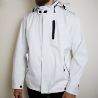 Nike Tech Pack Bonded Water Repellent Jacket Men's Medium White Sportswear