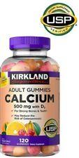 Kirkland Signature Calcium, 500mg with D3, 120 Gummies Exp. 12/21