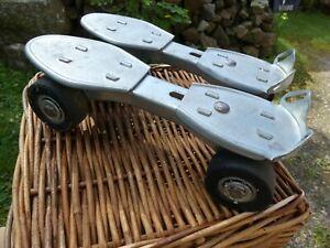 Ancien Patin à Roulette Fer Vintage Marque OLYMPIC Modèle Déposé Jouet Vintage
