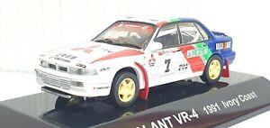 1/64 CM's 1991 MITSUBISHI GALANT VR-4 IVORY COAST #7 diecast model